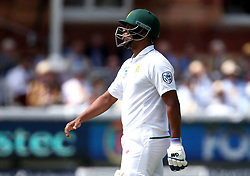 Vernon Philander of South Africa looks in pain after being hit by James Anderson of England - Mandatory by-line: Robbie Stephenson/JMP - 08/07/2017 - CRICKET - Lords - London, United Kingdom - England v South Africa - Investec Test Series