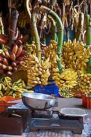 Inde, Etat du Kerala, Trivandrum ou Thiruvananthapuram, capitale du Kerala, marche aux fruits // India, Kerala state, Trivandrum or Thiruvananthapuram, Kerala capital, fruit market