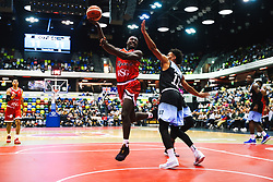 Daniel Edozie of Bristol Flyers in action as Bristol Flyers play Surrey Sharks - Rogan/JMP - 14/10/2018 - BASKETBALL - Copper Box Arena - London, England - British Basketball All-Stars Championship 2018.