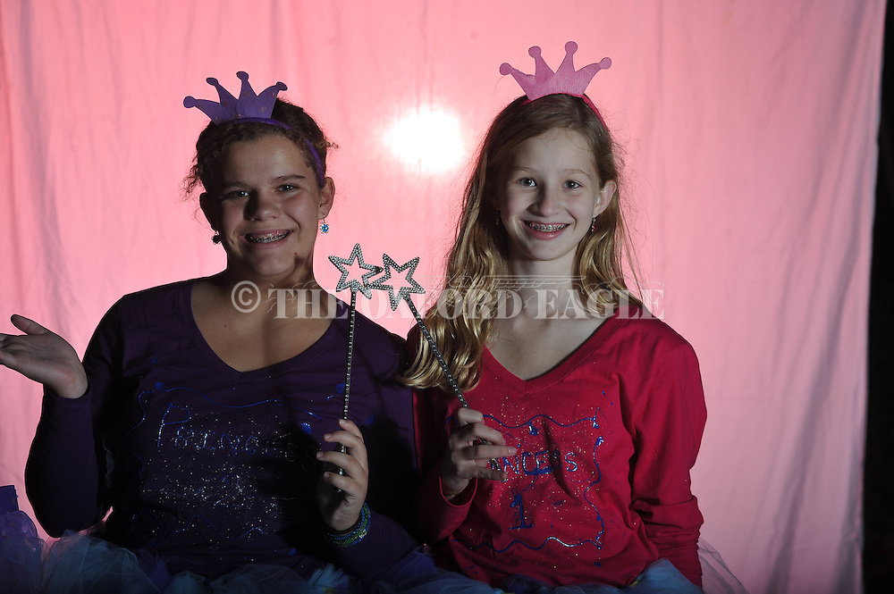 Virginia Smith (left) and Anna Grace Newsome (right) poses on Halloween in Oxford, Miss. on Wednesday, October 31, 2012.