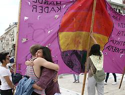 May 27, 2017 - Thessaloniki, Greece - People during Gay Pride Festival in Thessaloniki, Greece on May 27, 2017  (Credit Image: © Grigoris Siamidis/NurPhoto via ZUMA Press)