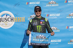 July 20, 2018 - Loudon, New Hampshire, United States of America - Kurt Busch (41) wins the pole award for the Foxwoods Resort Casino 301 at New Hampshire Motor Speedway in Loudon, New Hampshire. (Credit Image: © Justin R. Noe Asp Inc/ASP via ZUMA Wire)