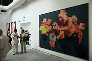 48th Biennale di Venezia, 1999..June 9, 1999..Italian pavillion..Paintings by Yang Shao..(Photo by Heimo Aga)
