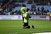 Peterborough United forward Ivan Toney (17)celebrates his goal during the EFL Sky Bet League 1 match between Coventry City and Peterborough United at the Ricoh Arena, Coventry, England on 23 November 2018.