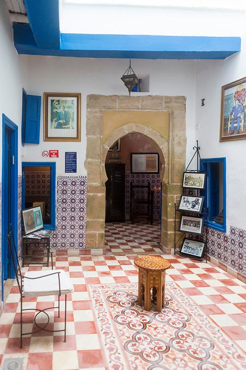 ESSAOUIRA, MOROCCO - May 11th 2018 - Synagogue Slat Lkahal in Essaouira, Southern Morocco