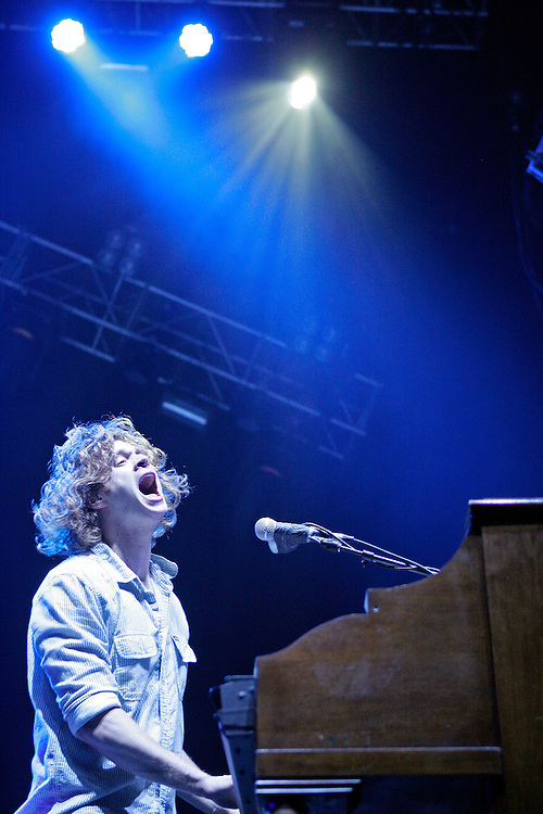 SCOTT MORGAN | ROCKFORD REGISTER STAR.Matthew Thiessen of Relient K performs Thursday, May 6, 2010, while opening for Paramore at the MetroCentre in Rockford.