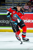 KELOWNA, BC - MARCH 11: Alex Swetlikoff #17 of the Kelowna Rockets skates with the puck against the Victoria Royals at Prospera Place on March 11, 2020 in Kelowna, Canada. (Photo by Marissa Baecker/Shoot the Breeze)