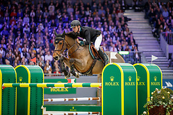 FREDRICSON Peder (SWE), H&M All In<br /> Genf - CHI Geneve Rolex Grand Slam 2019<br /> ROLEX Top 10 Finale<br /> 19th Rolex IJRC Top 10 Final<br /> International Jumping Competition 1m60<br /> Table A: Two Rounds, 1st and 2nd Round Against the Clock<br /> 13. Dezember 2019<br /> © www.sportfotos-lafrentz.de/Stefan Lafrentz
