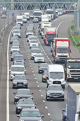 &copy; Licensed to London News Pictures.25/05/2018<br /> DARTFORD, UK.<br /> May Bank Holiday traffic madness has started.<br /> Bank Holiday getaway traffic chaos on the M25 in Dartford, Kent.  Anti-Clockwise towards Essex.<br /> Photo credit:Grant Falvey/LNP
