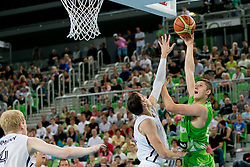 Gezim Morina of Slovenia during basketball match between National teams of Germany and Slovenia in Placement match for 5-9th place of U20 Men European Championship Slovenia 2012, on July 21, 2012 in SRC Stozice, Ljubljana, Slovenia. (Photo by Matic Klansek Velej / Sportida.com)