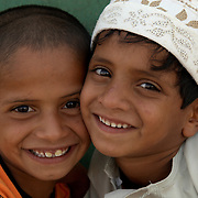 Oman, Ra's al-Hadd. March/20/2008...Two young boys from the village of Ra's al-Hadd.