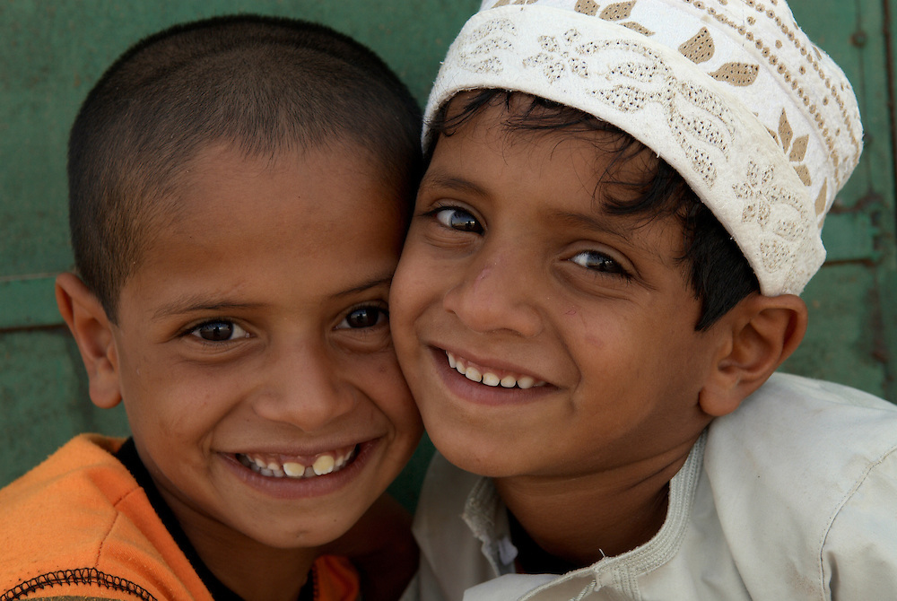 Oman, Ra's al-Hadd. March/20/2008...Two young boys from the village of Ra's al-Hadd. ..