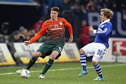 13.12.2011, Arena auf Schalke, Gelsenkirchen, GER, 1.FBL, Schalke 04 vs Werder Bremen, im BildSebastian Prödl/ Proedl (Bremen #15) (L) gegen Teemu Pukki (Schalke #20) // during the 1.FBL, Schalke 04 vs Werder Bremen on 2011/12/17, Arena auf Schalke, Gelsenkirchen, Germany. EXPA Pictures © 2011, PhotoCredit: EXPA/ nph/ Mueller..***** ATTENTION - OUT OF GER, CRO *****