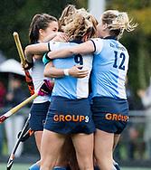 AMSTELVEEN - Carmel Bosch (Hurley) heeft de stand op 2-0 gebracht.  .Hoofdklasse competitie dames, Hurley-HDM (2-0) . FOTO KOEN SUYK