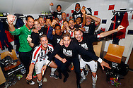 22-05-2016 VOETBAL: WILLEM II - NAC BREDA:TILBURG<br /> Promotie/degradatiewedstrijd<br /> De spelers van Willem II vieren de handhaving in de eredivisie<br /> Foto: Geert van Erven