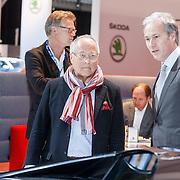 NLD/Amsterdam/20150416 - Opening AutoRai 2015, Joop Braakhekke bezoekt de beurs