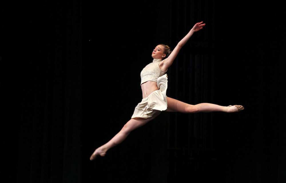 Lauren Thorne, 15, performs in the Senior Contemporary Group during the The Youth American Grand Prix Semi-Regionals at Zionsville High School Saturday March 9, 2013..Photo by Chris Bergin..