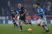 Fulham forward Aleksandar Mitrovic (9) in action  during the Premier League match between Huddersfield Town and Fulham at the John Smiths Stadium, Huddersfield, England on 5 November 2018.