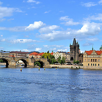 Charles Bridge and Old Town in Prague, Czech Republic<br />