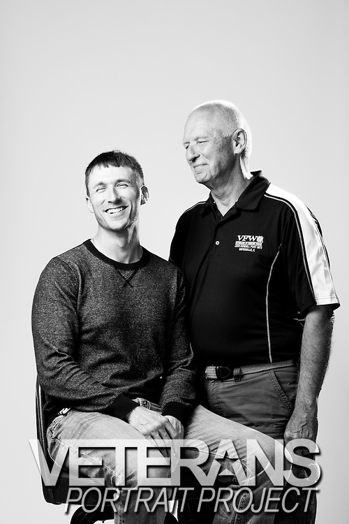 Robert and David Tracy<br /> Army<br /> <br /> Veterans Portrait Project<br /> Chicago, IL