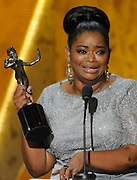 Octavia Spencer won Female Actor in a Supporting Role. The 18th Annual Screen Actors Guild Awards were held at the Shrine Exposition Center in Los Angeles, CA 1/29/2012(John McCoy/Staff Photographer)