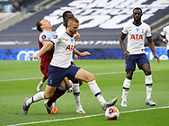 Mark Noble of West Ham United blocked by Eric Dier of Tottenham  during the Premier League match at the Tottenham Hotspur Stadium, London. Picture date: 23rd June 2020. Picture credit should read: David Klein/Sportimage