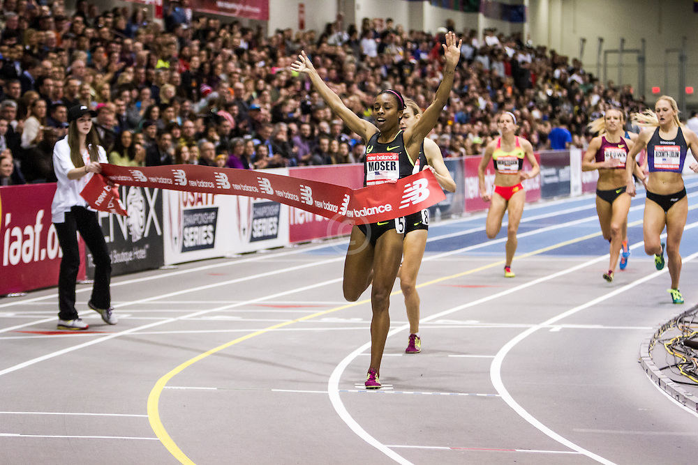 New Balance Indoor Grand Prix Track & FIeld:  women's 1000 meters Treniere Moser