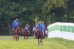 Sh Rashid Dalmook Al Maktoum, (UAE), Nopoli Del Ma, Saeed Mohd Khalifa Al Mehairi, (UAE), Kadjari Des Serres, Abdulla Ghanim Al Marri, (UAE), Quran El Ulm - Endurance - Alltech FEI World Equestrian Games™ 2014 - Normandy, France.<br /> © Hippo Foto Team - Leanjo de Koster<br /> 25/06/14