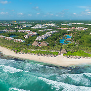 Aerial view of the Valentin Imperial Maya. Riviera Maya. Mexico