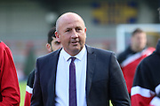 Accrington Stanley Manager John Coleman prior the Sky Bet League 2 Play-Off first leg match between AFC Wimbledon and Accrington Stanley at the Cherry Red Records Stadium, Kingston, England on 14 May 2016. Photo by Stuart Butcher.