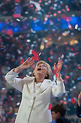Hillary Clinton after her nomination acceptance speech at the 2016 Democratic National Convention