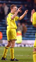 Fotball<br /> England 2004/2005<br /> Foto: SBI/Digitalsport<br /> NORWAY ONLY<br /> <br /> Barclays Premiership<br /> Crystal Palace v Charlton Athletic<br /> 5/12/2004<br /> <br /> Charlton's Dennis Rommedahl celebrates his last minute winner