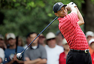 Tiger Woods of the United States hits his tee shot on the 3rd hole in the Final round of the U.S. Open Championship at Pinehurst No. 2 in Pinehurst, North Carolina on Sunday, 19  June, 2005