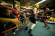 Gleason's Gym, Dumbo, Brooklyn, New York.Training for the the annual Golden Gloves boxing competition.....