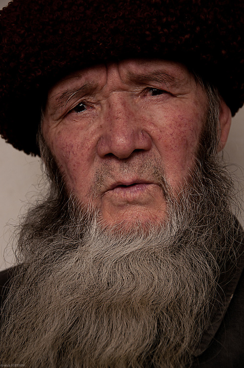 — Doctor Ghopor is a shaman who practices his medicine in Kashgar. He is originally from Kazakhstan and can speak both Uyghur and Kazakh. He is a healthy, vibrant  95 year old who boasts of having had ten wives. He lives with his current wife, who is in her 40's, and their 5 year old daughter.