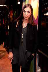 AMBER LE BON at a party to celebrate the Firetrap Watches and Kate Moross Collaboration Launch, held at Firetrap, 21 Earlham Street, London, UK on 13th October 2010.