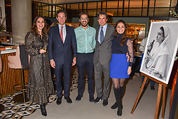 21 November 2019 - Joyce de Haas, Jack Brooksbank, Sam Harrison, Edward Taylor and Raissa de Haas at the launch of Sam's Riverside Restaurant, 1 Crisp Walk, Hammersmith hosted by owner Sam Harrison, Edward Taylor and Jack Brooksbank.<br /> <br /> Photo by Dominic O'Neill/Desmond O'Neill Features Ltd.  +44(0)1306 731608  www.donfeatures.com
