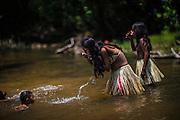 Xerente tribesmen  in the village of Tocantinia, Brazil, Friday, 03, 2015. (Hilaea Media/ Dado Galdieri)