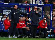 Picture by David Horn/Focus Images Ltd +44 7545 970036<br /> 07/12/2013<br /> Harry Redknapp Manager of Queens Park Rangers (right) and Gary Bowyer of Blackburn Rovers look on during the Sky Bet Championship match at the Loftus Road Stadium, London.