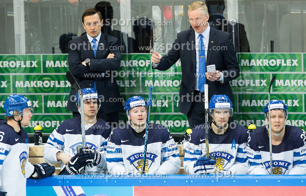 Kari Jalonen, head coach of Finland during Ice Hockey match between Finland and Czech Republic at Quarterfinals of 2015 IIHF World Championship, on May 14, 2015 in O2 Arena, Prague, Czech Republic. Photo by Vid Ponikvar / Sportida