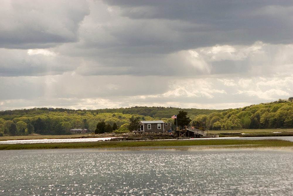 House on an island in the Anniaquam River.