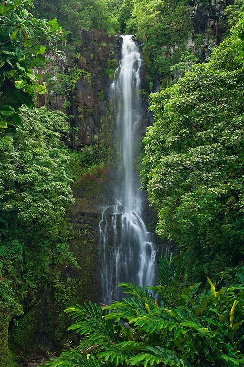 Wailua Falls, Kipahulu District, Hana Coast, Maui, Hawaii.