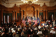 Governor David Patterson at Governor David Patterson's Town Hall Meeting on 2010-2011 Budget held at Brooklyn Borough Hall on March 8, 2010 in Brooklyn, NY.