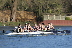 2012.02.25 Reading University Head 2012. The River Thames. Division 2. Eton College Boat Club A IM2 8+