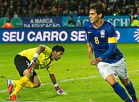 Malmö  2012-10-11  Fotboll  Landskamp  Brazil    - Iraq   :  Brazil 8 Kaka  Iraq 22 Noor Sabri.(Foto: Christer Thorell, Pic-Agency.com) Nyckelord : .