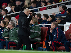 LONDON, ENGLAND - Thursday, December 5, 2019: Arsenal's care-taker manager Fredrik Ljungberg looks dejected during the FA Premier League match between Arsenal FC and Brighton & Hove Albion FC at the Emirates Stadium. Arsenal lost 2-1. (Pic by Vegard Grott/Propaganda)