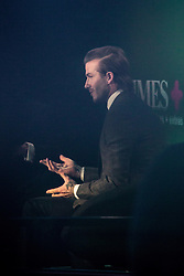 © Licensed to London News Pictures . 10/12/2013 . Manchester , UK . DAVID BECKHAM inside the National Football Museum this evening (10th December 2013) during a Q&A hosted by the Times newspaper . Photo credit : Joel Goodman/LNP