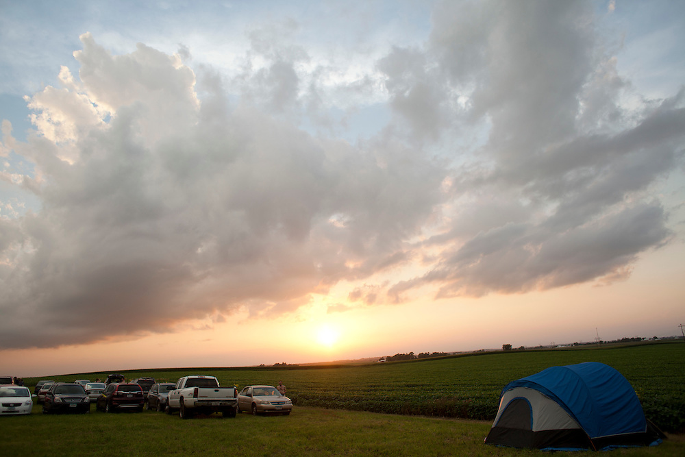 Jerry Hotz's 120-acre farm north of Lone Tree in Johnson County is the setting for Camp Euforia, which is in its 12th year. The three-day music festival has grown from a small gathering to a well-organized fest that regularly draws about a thousand tent and RV campers and guests.