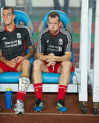 GUANGZHOU, CHINA - Wednesday, July 13, 2011: Liverpool's new signing Charlie Adam before the first pre-season friendly match against Guangdong Sunray Cave on day three of the club's Asia Tour at the Tianhe Stadium. (Photo by David Rawcliffe/Propaganda)