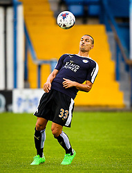 Gokhan Inler of Leicester City warms up ahead of the Capital One Cup second round match between Bury and Leicester City  - Mandatory byline: Matt McNulty/JMP - 07966386802 - 25/08/2015 - FOOTBALL - Gigg Lane -Bury,England - Bury v Leicester City - Capital One Cup - Second Round